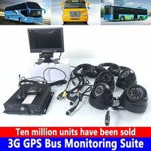 С фабрики 3g gps автобус Мониторинг Комплект AHD 4CH SD карты Мобильный DVR удаленный терминал управление платформой и центр