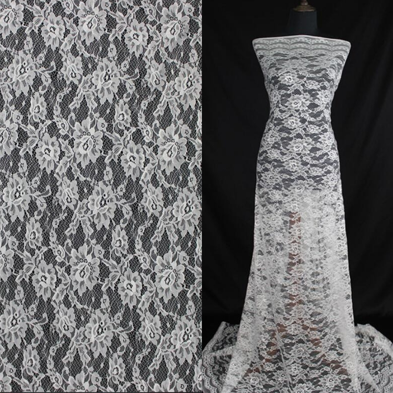10 Yards Lot  150 CM wide A lot gogeous wedding bride party dress decoration home french chantilly lace fabric garment material