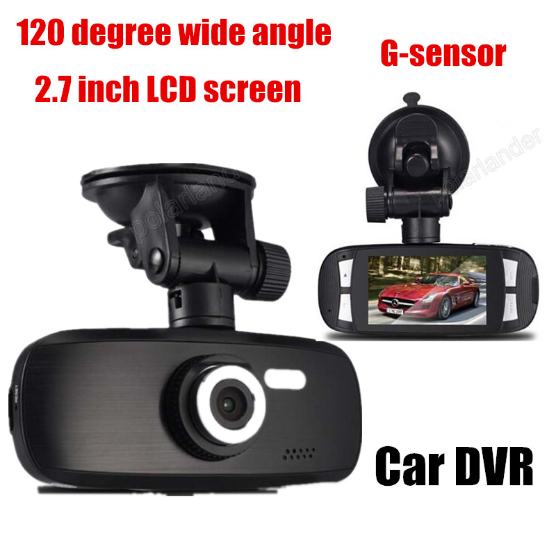 night vision New Car DVR 2.7 inch LCD 120 degree wide Angle Car video Recorder camcorder