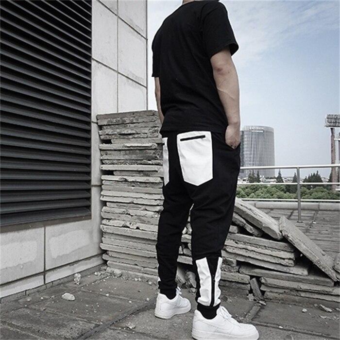 grau Hosen Plus 44 Mode Hop Casual Größe 2019 27 Kleidung Schwarz Neue Hip Stitching Zipper Männer Schwarzes weiß Dekoration Kostüme FRwnxOH7q