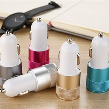 Mini 2 Port USB Car Charger 2.1A Universal Dual Double USB Cell Mobile Phone Charging Adapter For phone(China)
