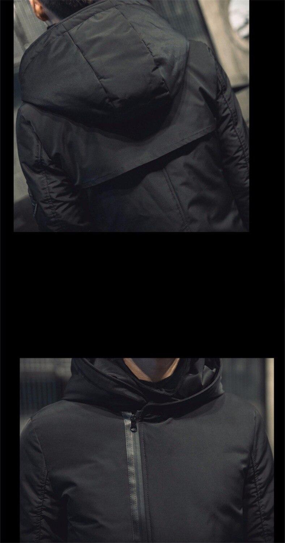 TEAEGG 2019 зимняя мужская куртка с хлопковой подкладкой, манто Hiver Homme, черная Теплая мужская зимняя парка с капюшоном, мужские куртки, верхняя одежда AL377 - 6