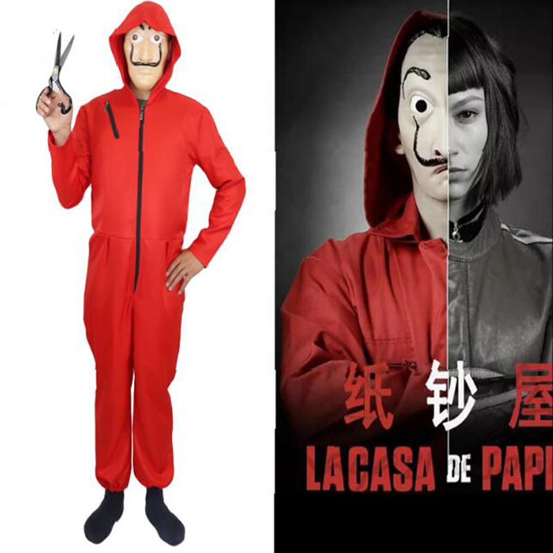 Salvador Dali Cosplay Costumes Mask Kids Adult The House of Paper La Casa De Papel Cosplay Party Halloween Money Heist