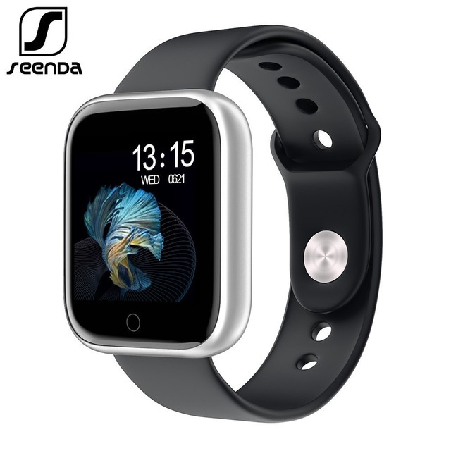 SeenDa Women Men Smart Watch with Touch Screen 30 days long standby Heart rate Blood pressure Smartwatch Support IOS Android