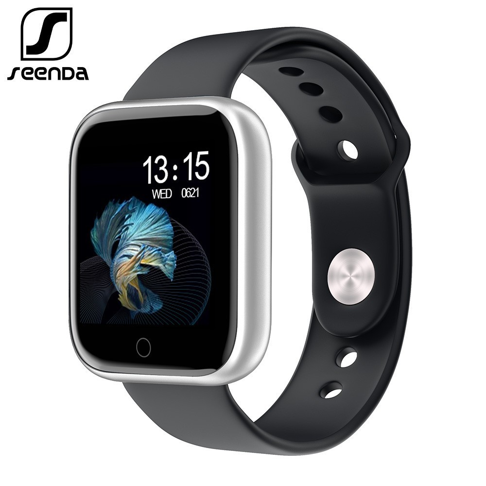 SeenDa Women Men Smart <font><b>Watch</b></font> with Touch Screen 30 days long standby Heart rate <font><b>Blood</b></font> <font><b>pressure</b></font> Smartwatch Support IOS Android image