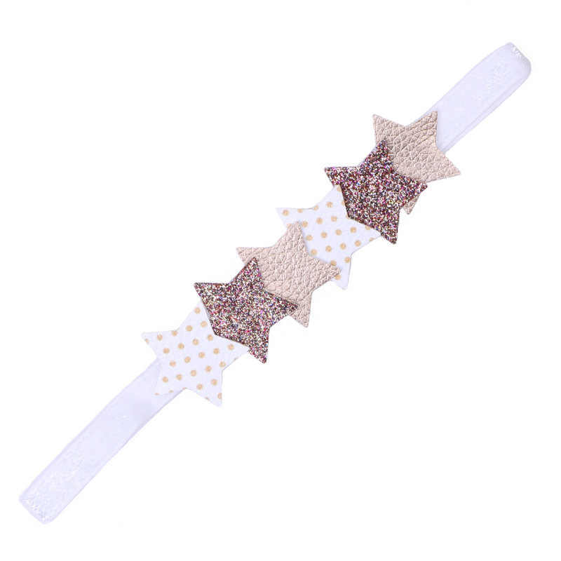 1PC New PU Star Rabbit Ears Bowknot Children Headbands Elastic Hair Bands Kids Hair Accessories Girls Hairpins Baby Hairbands
