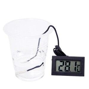 Image 2 - 50pcs/ lot Mini Digital LCD Thermometer Temperature Sensor Fridge Freezer Thermometer  10%