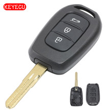 Keyecu Remote Key Shell Case Fob 3 Button for Renault Duster Trafic Clio 4 Master 3 Logan