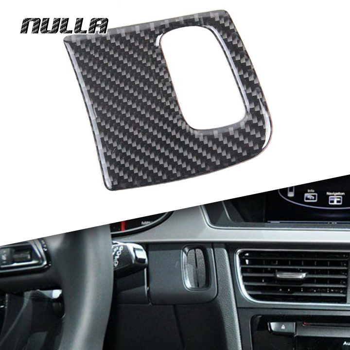 NULLA Carbon Fiber Interior Car Keyhole Decorative Cover 3D Sticker Cover for AUDI A4 A5 B6 B8 B5 Sline Car Styling Accessories image