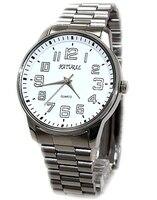 Simples Relógios Para Homens Banda de Aço Inoxidável Prata Brilhante Rodada Relógios De Prata Caso Relógio de Forma Elegante FW599A