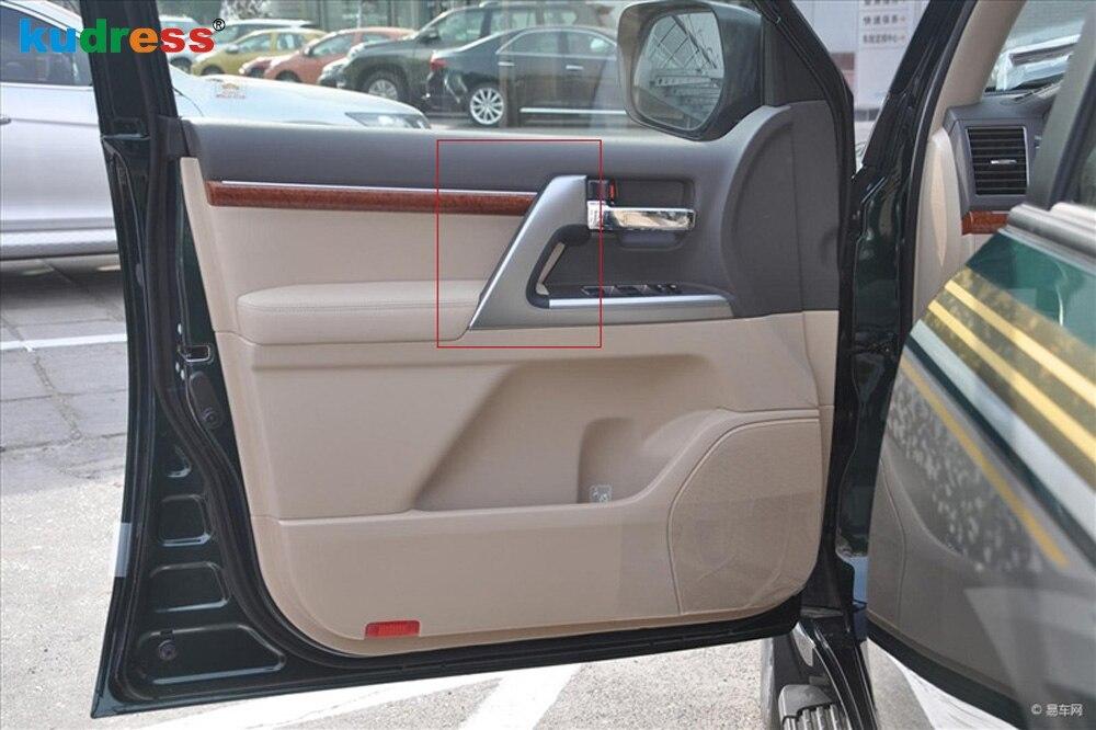 Pour Toyota Land Cruiser LC200 FJ200 Second lifting 2016-2017 seulement mat accoudoir panneau couverture protège-garniture décoration