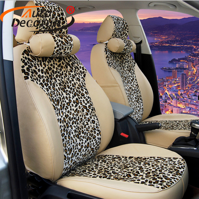 AutoDecorun PU leather seat covers for Hyundai Coupe accessoires seat cover set 2006 Custom covers for car seat cushion supports