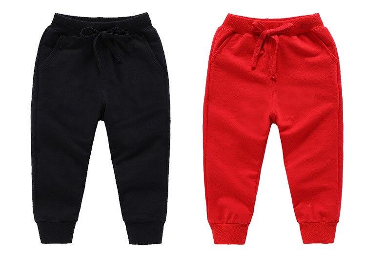 Retail New Warm Velvet Pants For 2-10 Yeas Solid Boys Girls Casual Sport Pants Jogging Enfant Garcon Kids Children Trousers 5