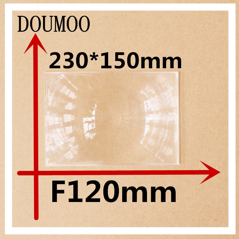 230*150 mm Optical PMMA Plastic linear Fresnel Lens focal length 120 mm Fresnel Lens Plane Magnifier Solar Energy Concentrator 2pcs 124mm dia round optical pmma plastic fine screw thread solar condensing fresnel lens large focal length 120mm 150mm 190mm