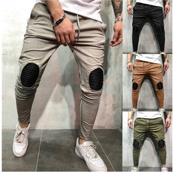 Fashion Brand Hip Hop Joggers Pants 2019 New Male Trousers Men Knee patch Leisure fitness Sweatpants