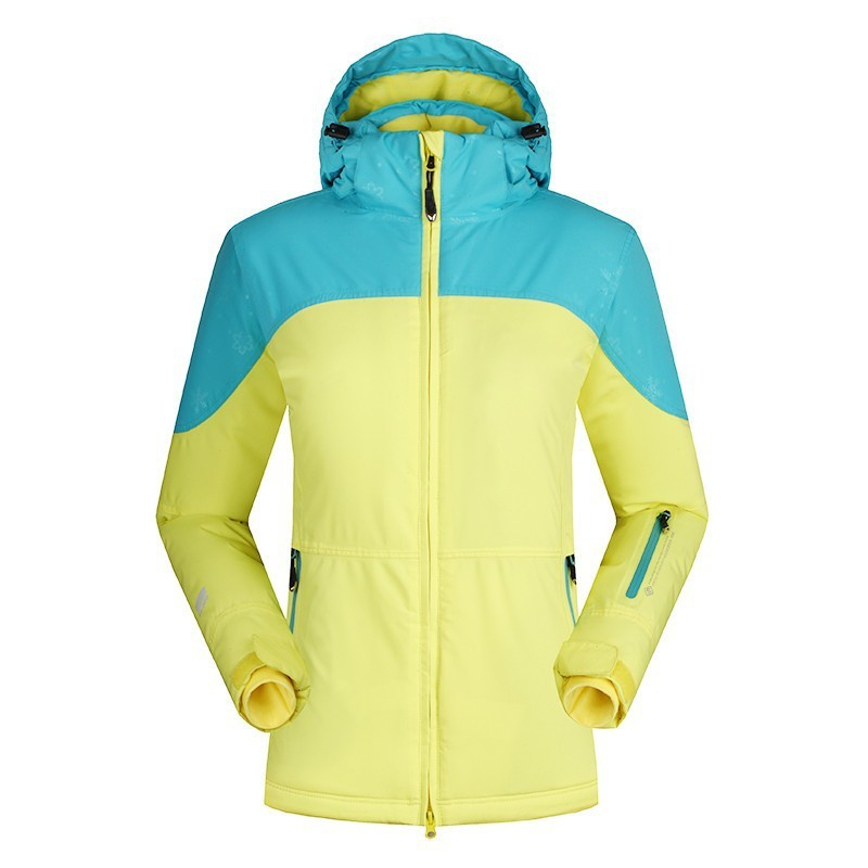 Women Outdoor Snowboard Skiing Jackets Waterproof Thermal Windbreaker Hooded Patchwork Winter Sport Camping Overcoat For Tourism