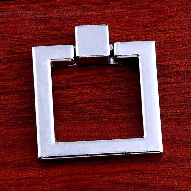 Dresser Pull Knob Platz Tropfen Ringe Silber Chrom Küchenschrank ...