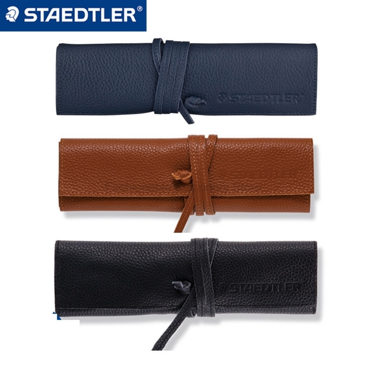 STAEDTLER 900LC 37x190mm Genuine Leather Pencil Bag For Travel Diary Pen Case Cowhide Pencil Cover for Leather Notebook кейс для диджейского оборудования thon case for xdj rx notebook