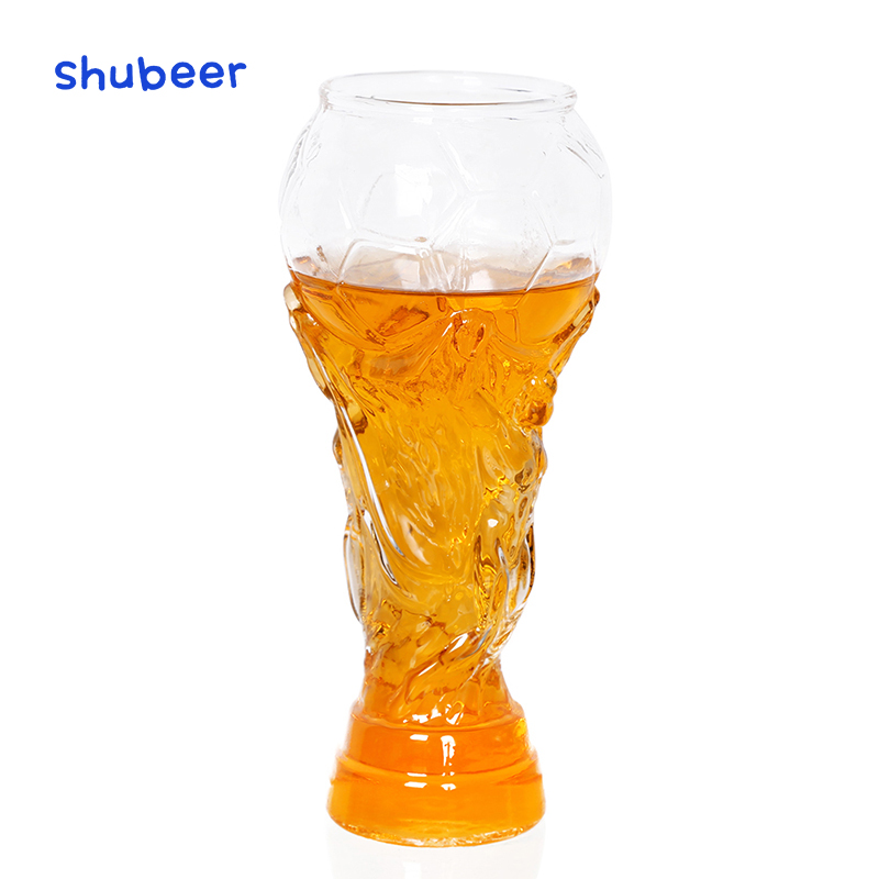 2018 Creative 1Pcs 450ml Football Glass Cup Beer Glass Mugs Whisky Glass Wine Glass Goblet Juice Cup Heat Resistant ePacet