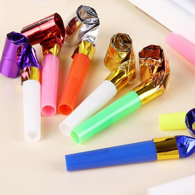 10pcs/Set Party Whistle Toys For Children Plastic Small Blow Dragon Whistle Cheer Leading Theme Birthday Party Toys Gift