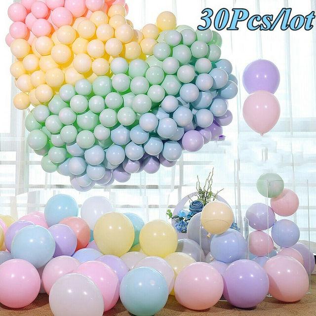 "30 pcs 5/10 ""מעורב ניאון צבע לטקס בלוני חגיגת מסיבת חתונה יום הולדת"