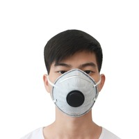 100Pcs/Pack Earloop PM2.5 Pollution Respirator Dust Mask With Valve Anti Dust Health Care Tool Color Black Or White