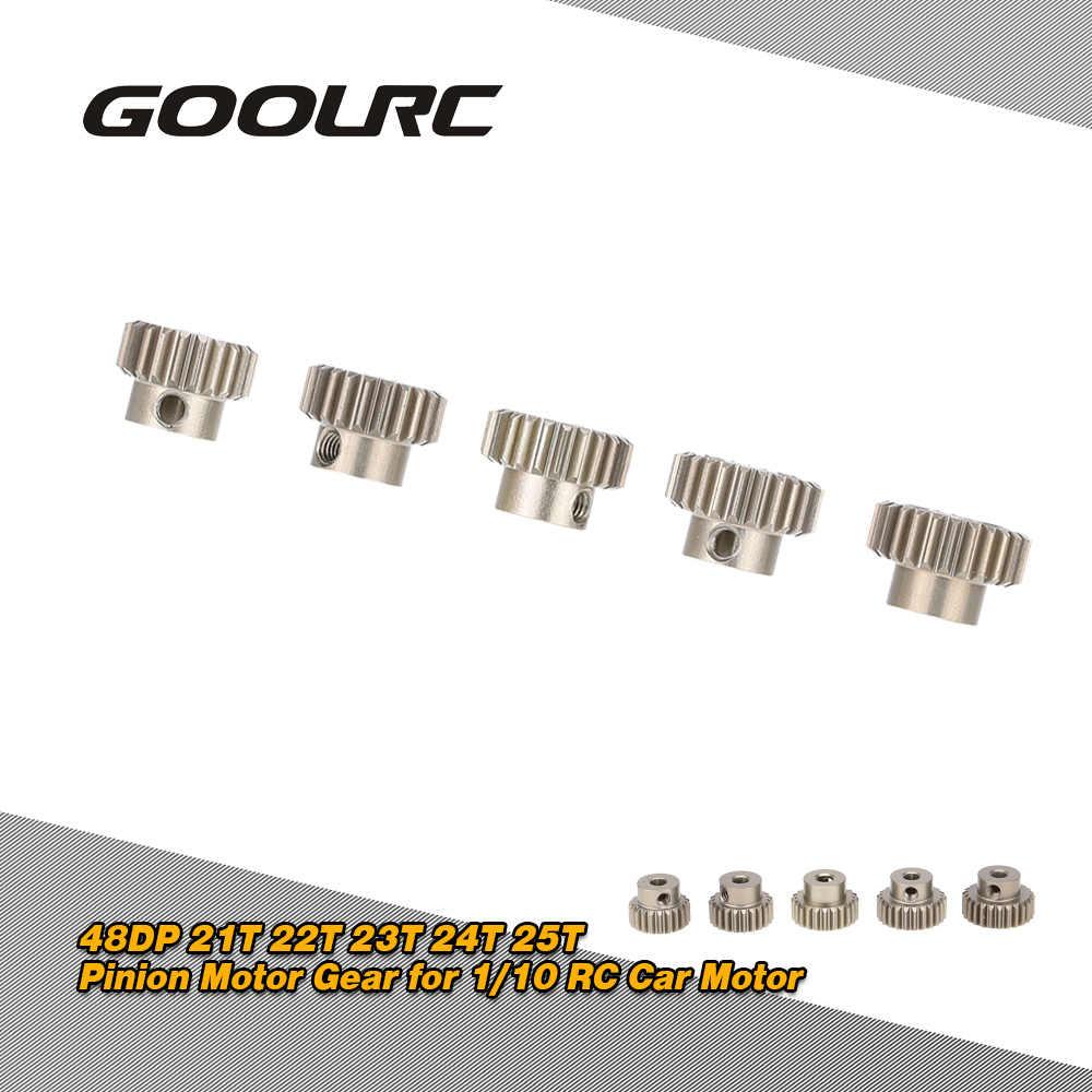 GoolRC 48DP 21 T 22 T 23 T 24 T 25 T juego de engranajes de Motor de piñón para 1/10 RC coche cepillado sin escobillas Motor