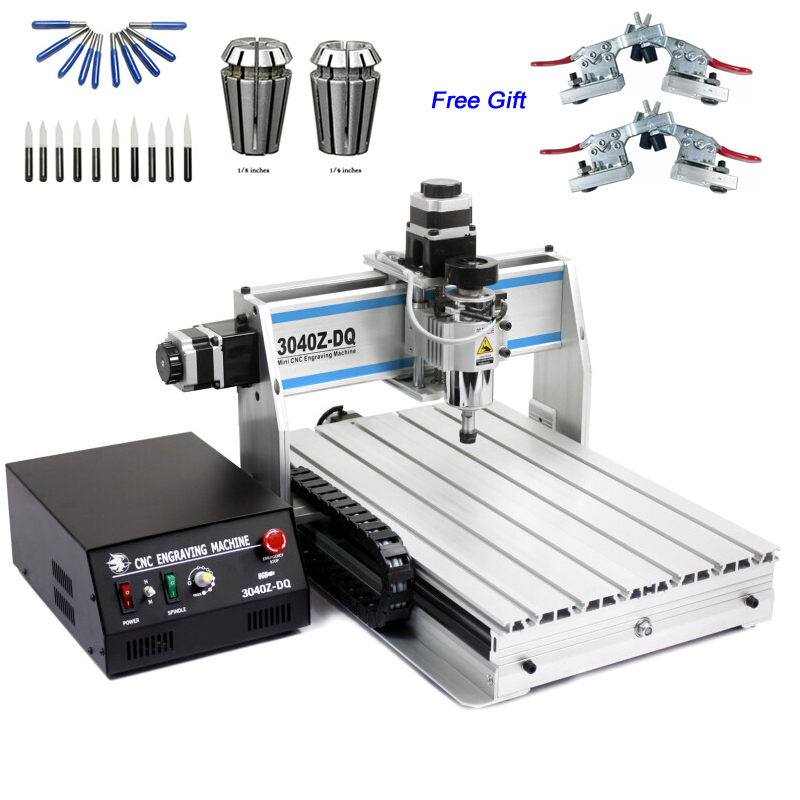 300W CNC Router 3040ZQ-USB 3 Axis  Engraver 4030 Cutting Machine With USB Port Limit Switch