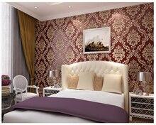 beibehang papel de parede European 3D relief non-woven background wall Damascus antique wallpaper hudas beauty behang
