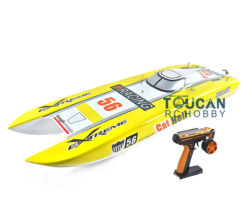 E51 RTR Dual Motors Electric RC Racing Boat W/120A ESC/RadioSys/100kmh/battery Yellow h625 rtr spike fiber glass electric racing speed boat deep vee rc boat w 3350kv brushless motor 90a esc remote control green