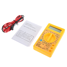 Newest mini LCD Digital Multimeter Tester Meter Voltmeter Ammeter Ohm DT830B Yellow