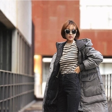 Woman Winter Warm Cloak Windbreaker Hooded Manteau Femme Long B Jacket Thick Maxi Coat Palto Parka Large S Korean Overcoat