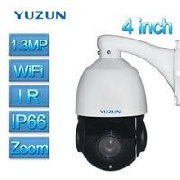 4 inch Mini 1.3MP 960P IP PTZ Camera Wifi Speed Dome Camera IR Onvif P2P Home Security Camera Wireless Outdoor DHL Free Shipping
