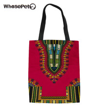 WHOSEPET Women Messenger Bag African Printing Canvas Shopping Bags Travel Large Summer Beach Tote High Qualtiy Handbag For Girls