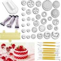 46 Sztuk Zestawy Narzędzi Do Pieczenia Do Ciast Dekorowanie Narzędzia Ciasto Cookie Mould Kremówka Kwiat Formy E2shopping