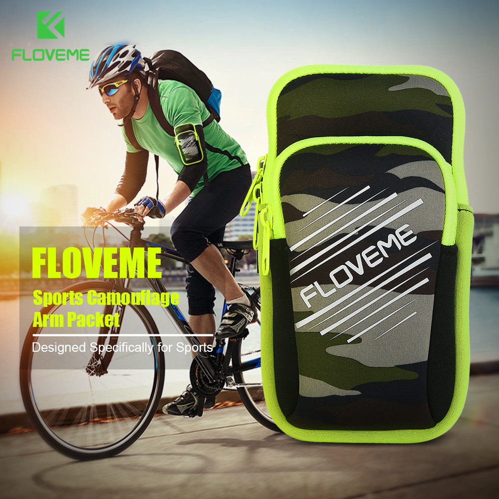 FLOVEME 5.5 Off-road+Travel+Sport Arm Band Case For iPhone Samsung Galaxy S7 S6 Honor VIVO SONY LG Camouflage Case Phone Bag