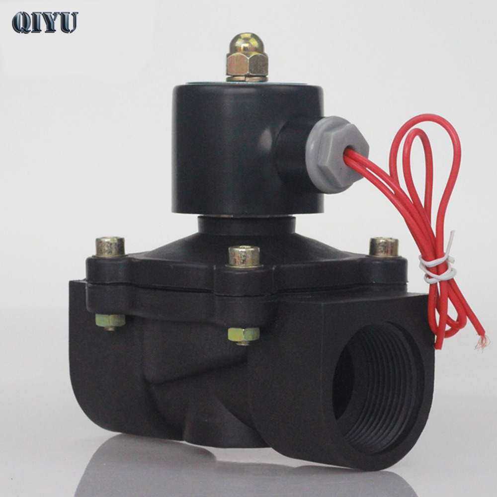 DN08/10/15/20/25/32/40/50   AC 110V AC 220V DC 12V DC 24V Plastic Normally Closed Solenoid Valve Water Valve Switching Valve