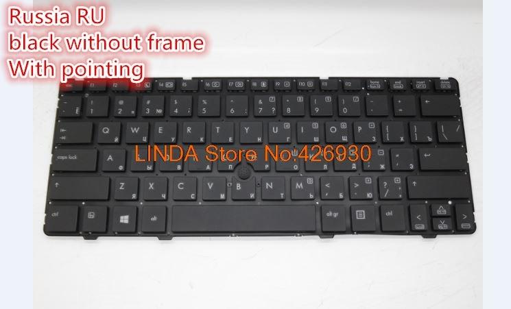 Laptop Keyboard For HP EliteBook 2560P 2570P Russia RU United States US 701979 001 700948 001