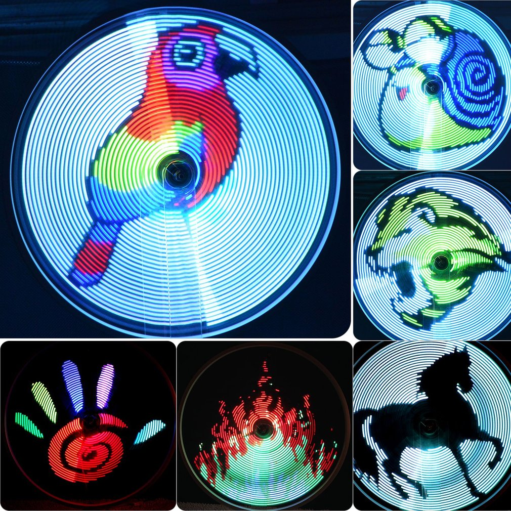 64 LED Doudle sided Bicycle Wheel Lamp Rechargeable Programmable LED Bicycle Light Colorful Cycling Lamp Bike Accessory Hot