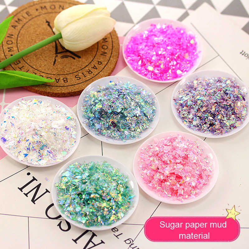 20g Colorful shell Sugar broken pieces flashing flash debris material UV resin epoxy resin mold making jewelry filling for DIY