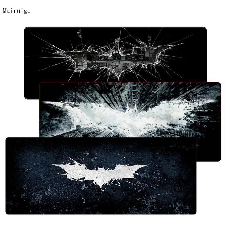 Mairuige Batman Logo Free Shipping Gaming Mouse Pads Locking Edge Mouse Pad Mat For LOL Dota2 CS Mouse Mice Pad For Game Player