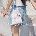 IVI Shoulder Messenger Packet Art Canvas Bag solid color CellPhone Bag Small Shoulder Bag Mini Bag