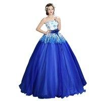 пышное платье 2018 ручной вышивки длиной до пола бальное платье без бретелек кружева элегантный блестящий бальное платье для выпускного вечера