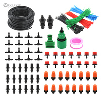 MUCIAKIE 50M 40/30/25/20/15/10M Micro Garden Irrigation System Water Drip Sprinker Cooling System Greenhouse Watering Kits|Watering Kits| |  -