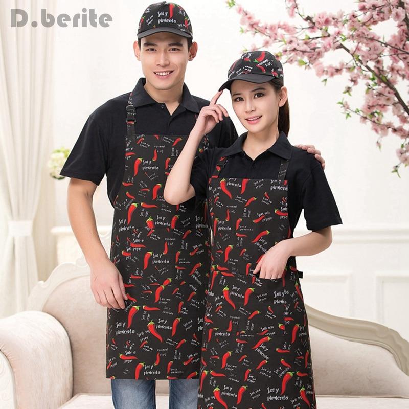 Men Women Apron Suit Baseball Cap Catering Set Chef Kitchen Food Service Cafe Commercial Restaurant Clothing Uniform DAJ9038