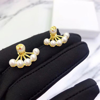 Ms 925 sterling silver pearl earrings 2019 classic euramerican style jewelry gift miracle fashion jewelry fashion festival