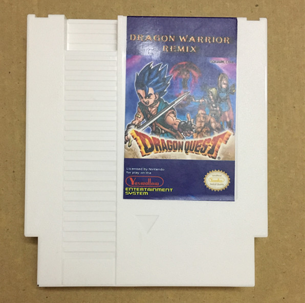 Dragon Warrior Remix 9 in 1 game cartridge for NES, Dragon Warrior I.II.III.IV, Dragon Quest I.II.III.IV image