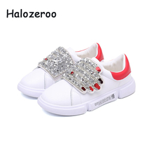 Kid Rhinestone Casual Shoes Children High Top Sneakers Baby Girl Fashion Sport Sneakers Boy Pu Leather Shoes Autumn Soft Trainer