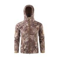 Camouflage Cycling Jackets Men Coat Outdoors Jacket Winter Waterproof Soft Shell Windbreaker Warm Jacket Coat Long Sleeve #2n29