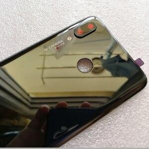 Image 3 - 100% оригинальная новая задняя крышка из закаленного стекла для Huawei Nova 3 Nova3 задняя крышка батарейного отсека Корпус + рамка для камеры + крышка для вспышки
